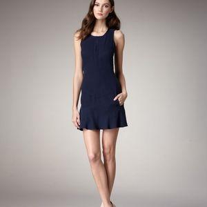 """theyskens' theory """"Dahlo"""" Blue Silk Seam 2 Dress"""